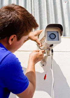 Emergency CCTV service and maintenance areas